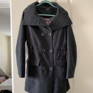 Jackets & Blazers - Grey pea coat